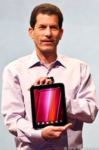 HP's Jon Rubinstein and the TouchPad tablet.