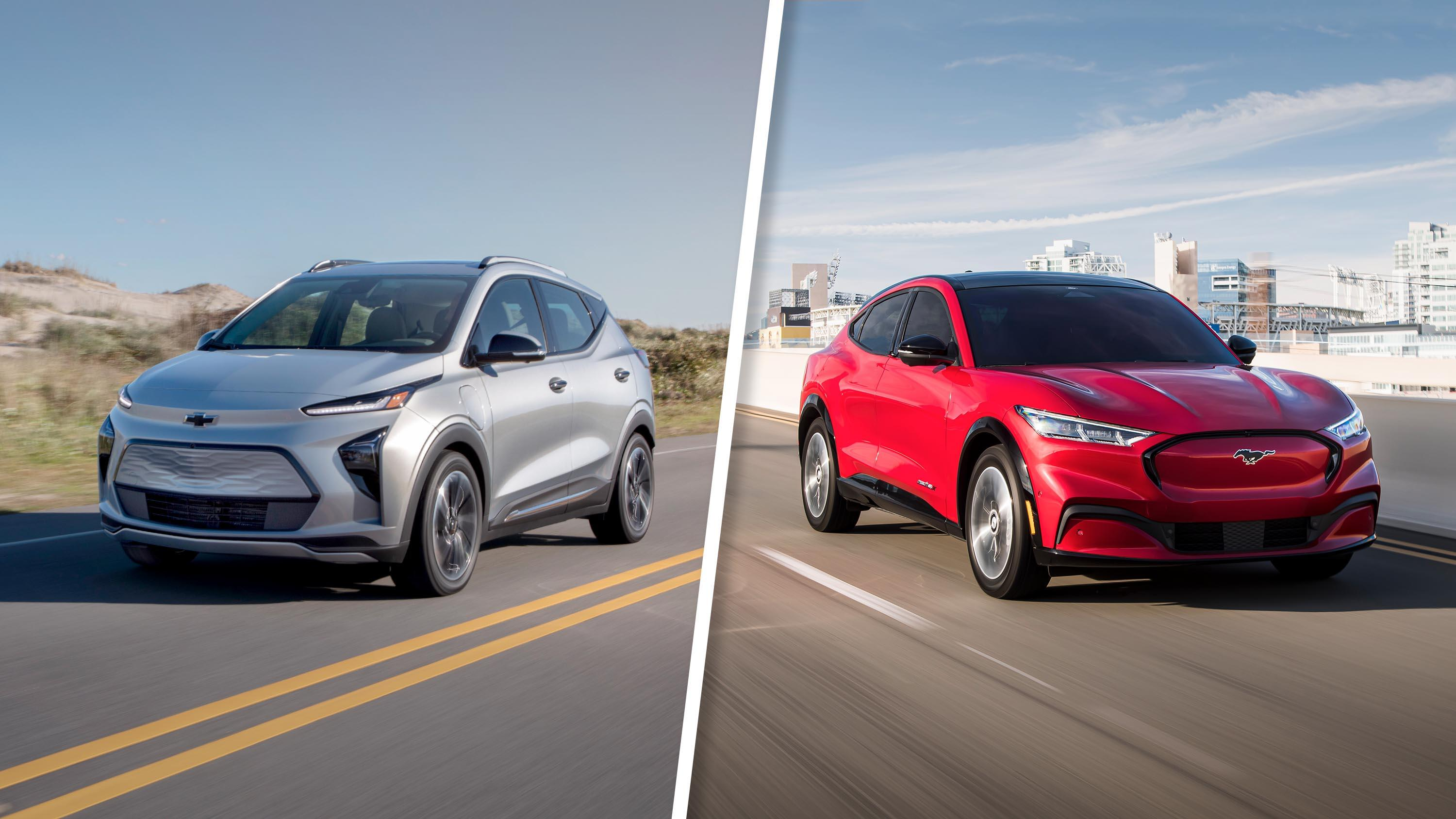 Video: 2022 Chevy Bolt EUV vs. Mustang Mach-E: Electric SUVs go head-to-head
