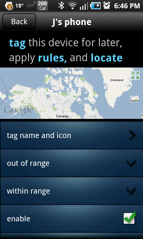 Toothtag tagging screen