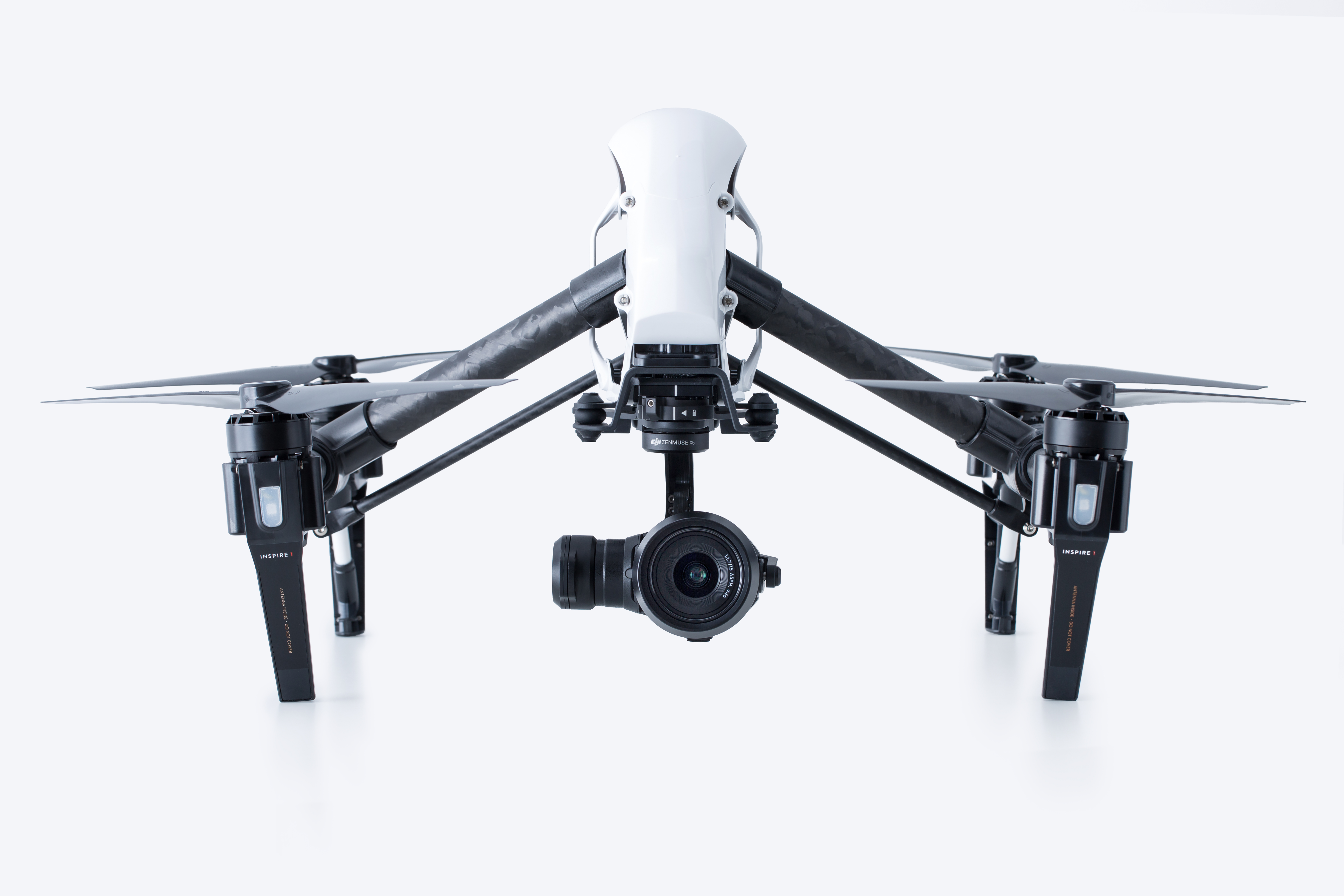 Chinese drone maker DJI offers a range of amateur and professional models, including this Inspire 1 equipped with a high-end Zenmuse X5 camera system.