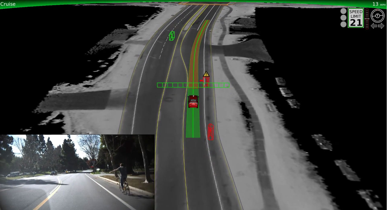 One new trick for Google's autonomous vehicles is detecting when a cyclist is signaling a left turn. Cyclists don't always signal, but when they do, Google's cars have a better idea what to do.