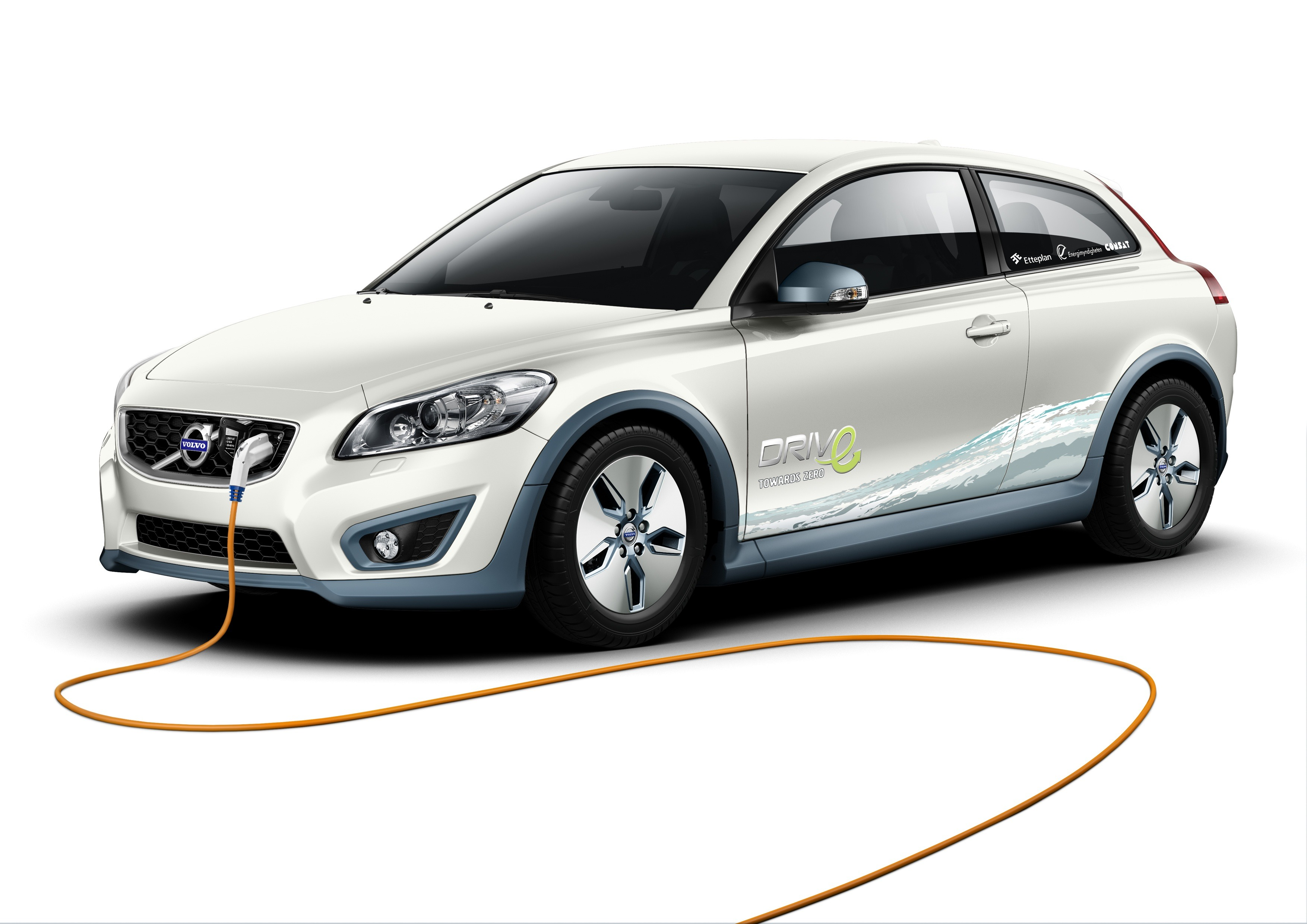 Volvo's electric C30 concept has a 94-mile range, but the carmaker is planning to add a fuel cell and an on-board reformer to produce hydrogen from gasoline and extend the vehicle's range by 155 miles.