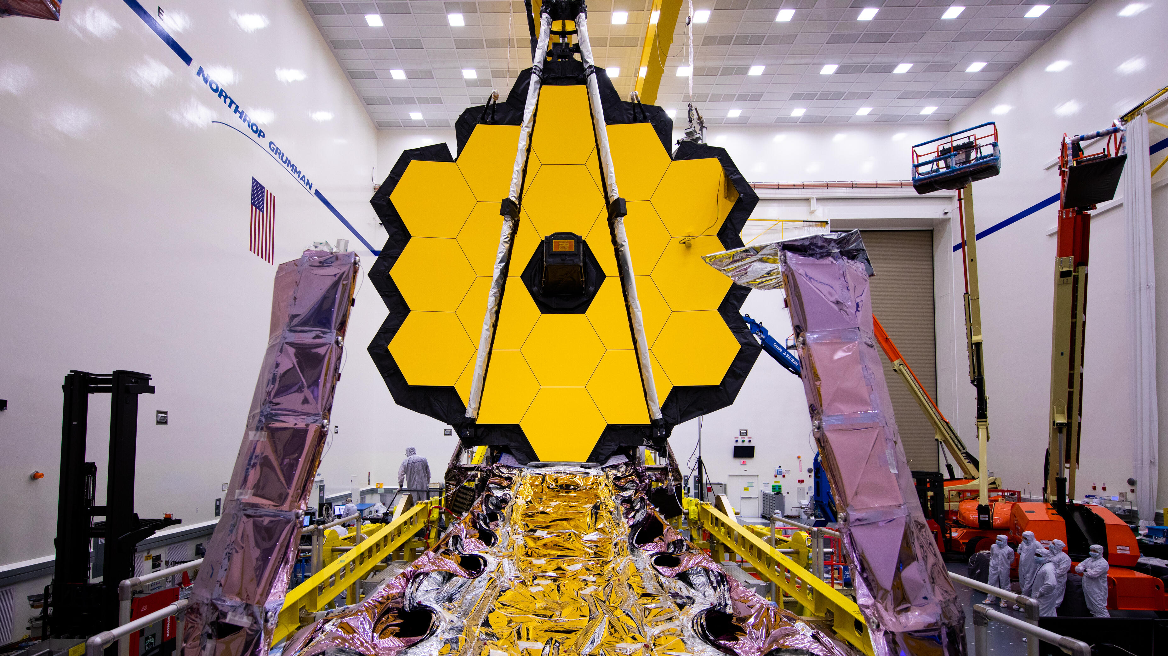NASA James Webb Space Telescope opens golden mirror one last time on Earth