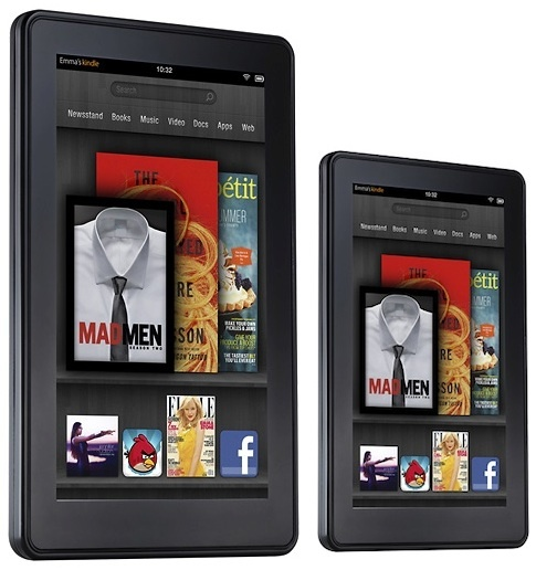 Possibly three new 7-inch Kindle Fire models (R) are in the works and maybe a fourth (L) that has an 8.9-inch screen.