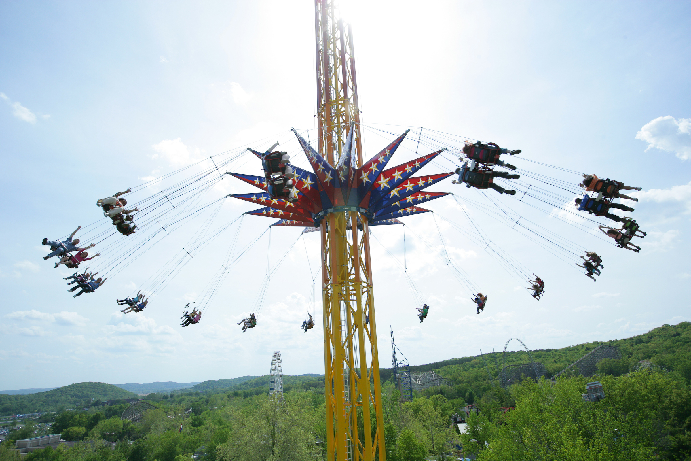 SkyScreamer extreme swing ride at Six Flags