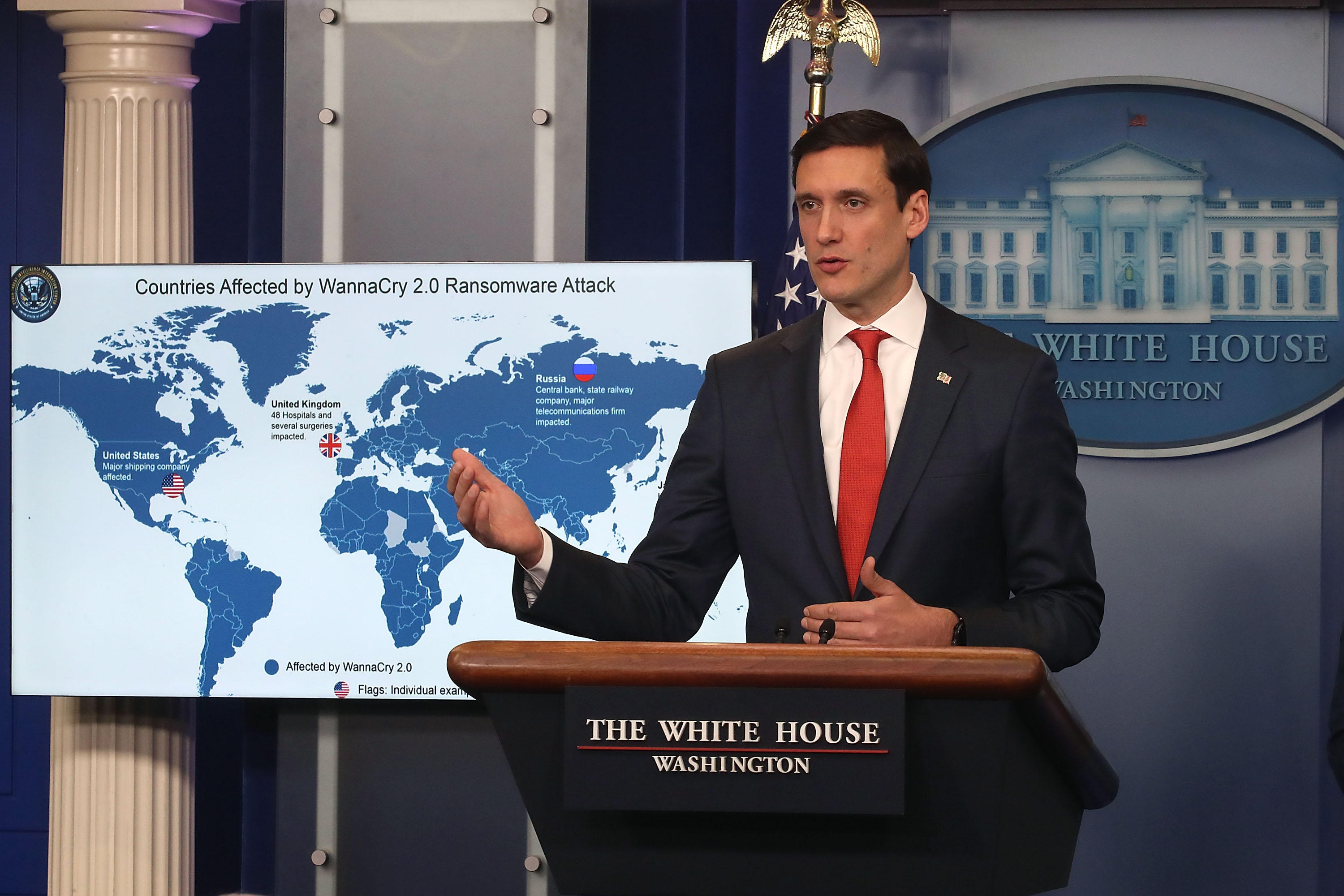 Homeland Security Adviser Tom Bossert Holds White House Briefing On N. Korea