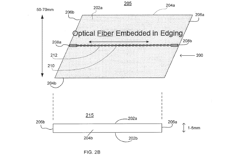 Google's patent application describes a flat, perhaps flexible strip 50mm to 70mm wide and 1mm to 5mm thick that would carry fiber-optic lines. It could be left aboveground, buried partially, or buried fully.