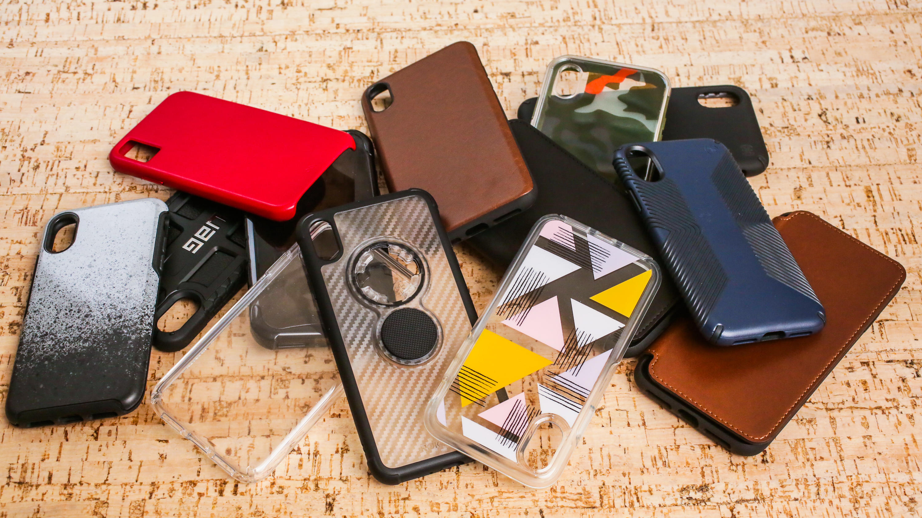 Genuine Leather iPhone XXS Full Protective Back Cover Case Personalization Phone Case Shiny Brown iPhone XXS Ultra Slim Phone Case