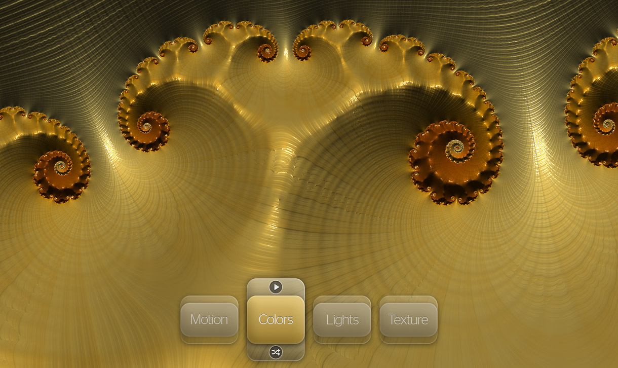 Tapping at the bottom center of the screen reveals touch controls for Frax. Other controls are given by pinching, swiping, and making twisting gestures.