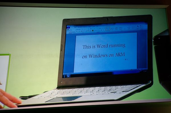 An Nvidia quad-core based laptop running Windows 8 at Computex this week.