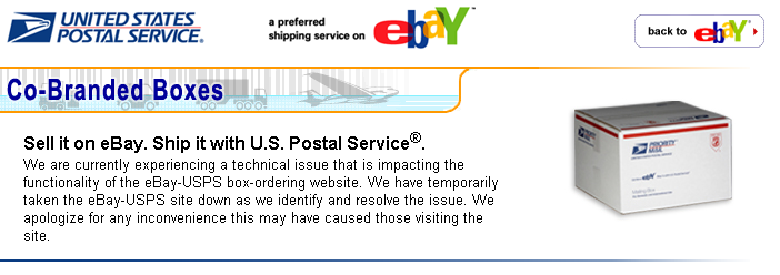 This is the message that now appears on the eBay Web page that was leaking customer data last night.