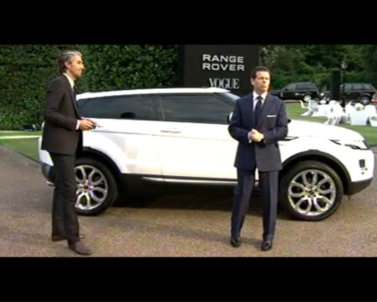 The Evoque's small scale is revealed.