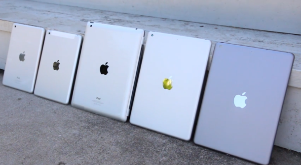 An earlier leak showing off new colors and form factors of the iPad and iPad mini.
