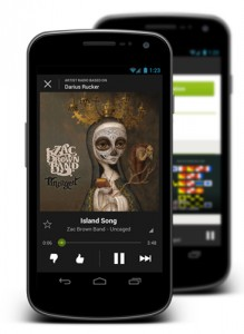 Spotify running on Android.