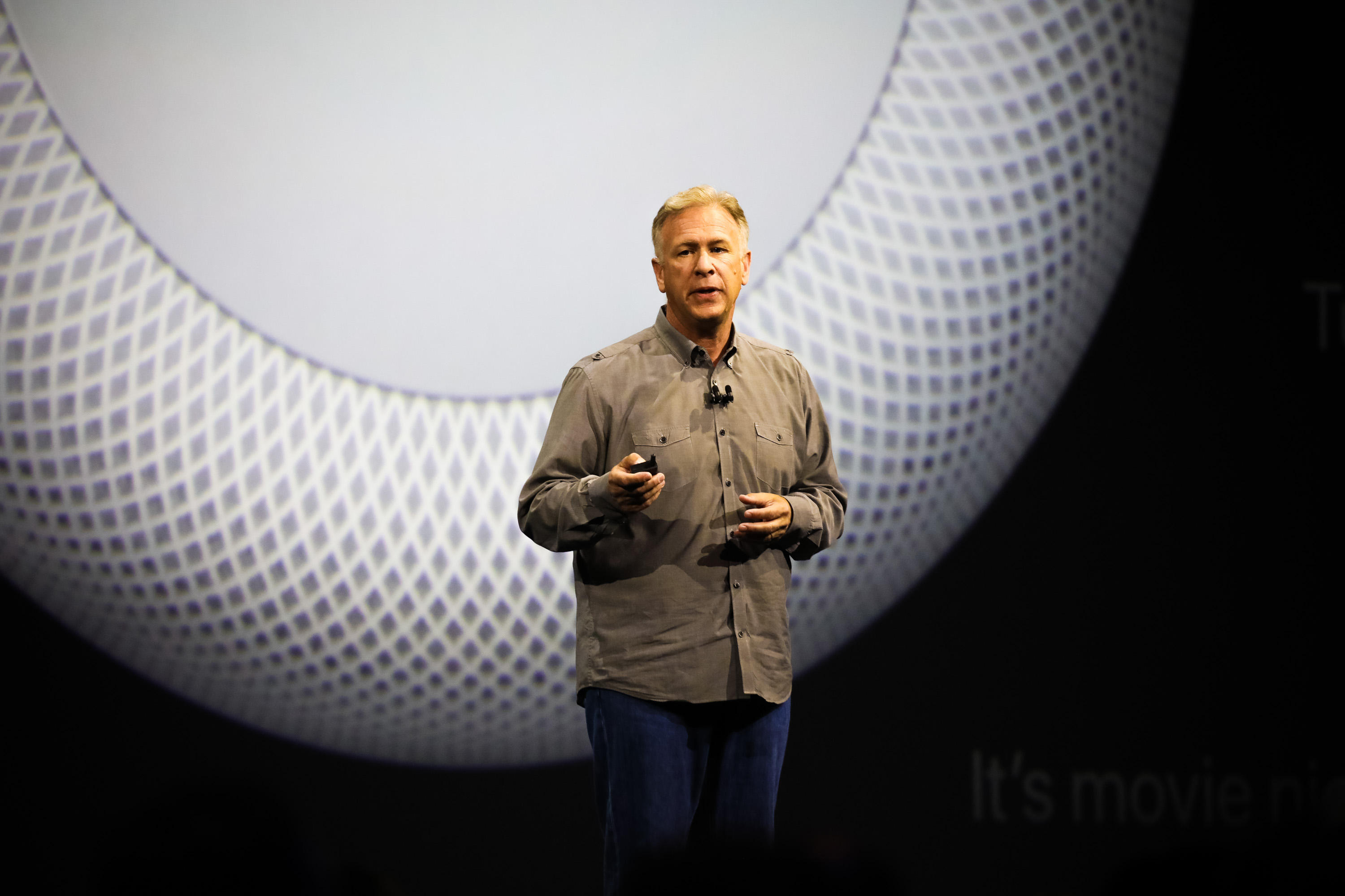 Apple's Phil Schiller shows off the HomePod.