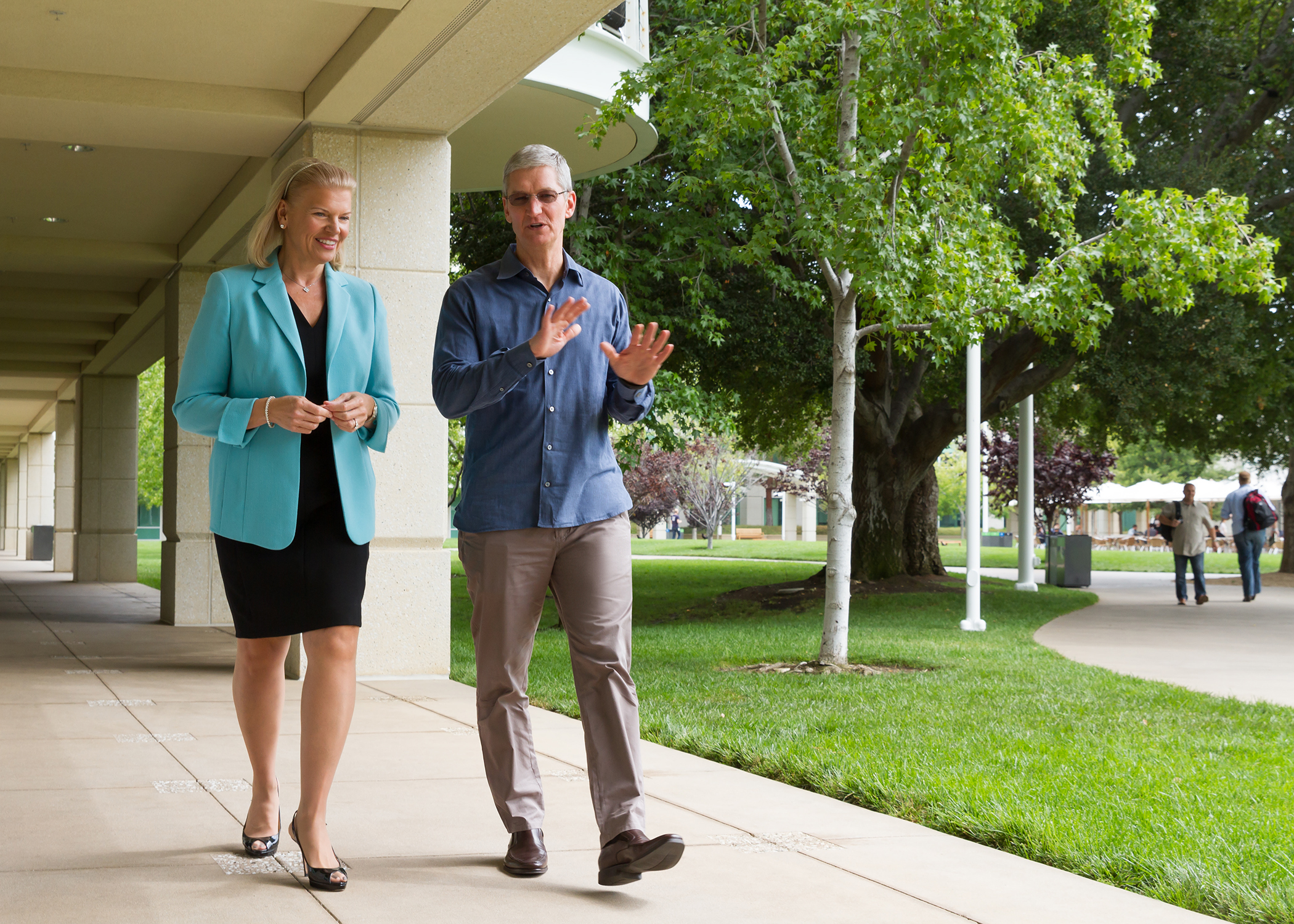 Apple CEO Tim Cook and IBM CEO Ginni Rometty