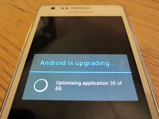 Android OS recovery - upgrading