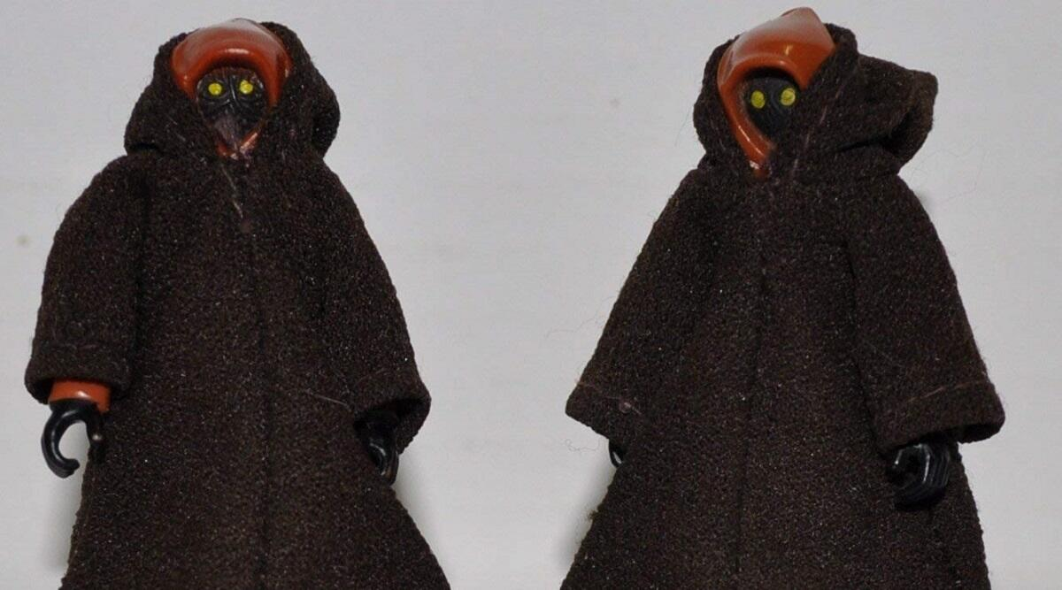 Two vintage Jawas action figures