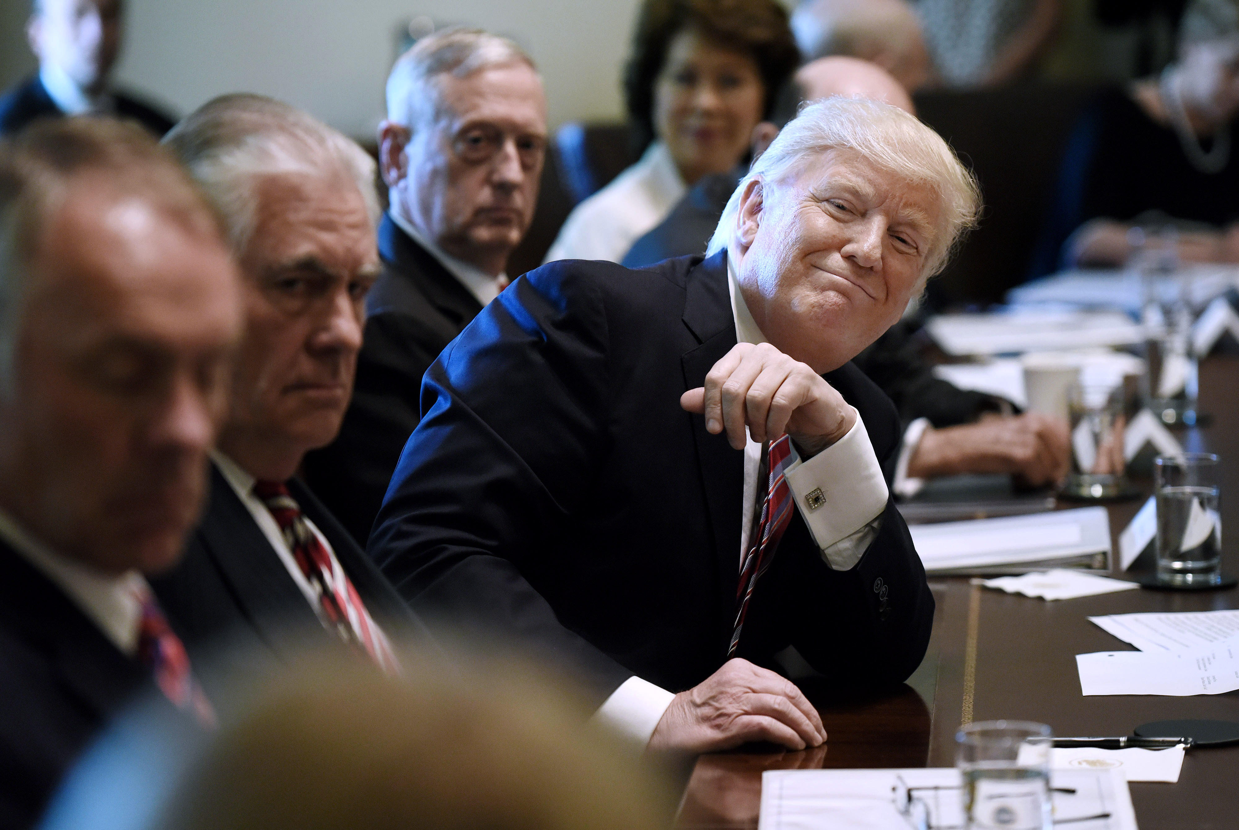 President Trump Leads a Cabinet Meeting