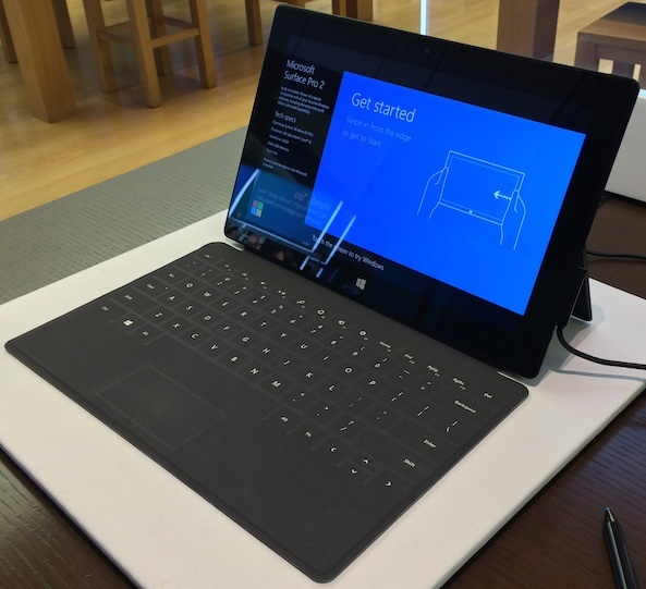 """Surface Pro 2.  """"We feel good about the progress we have made over the past couple of quarters and enthusiastic about the overall opportunity ahead for surface,"""" Microsoft said during its second quarter earnings conference call."""