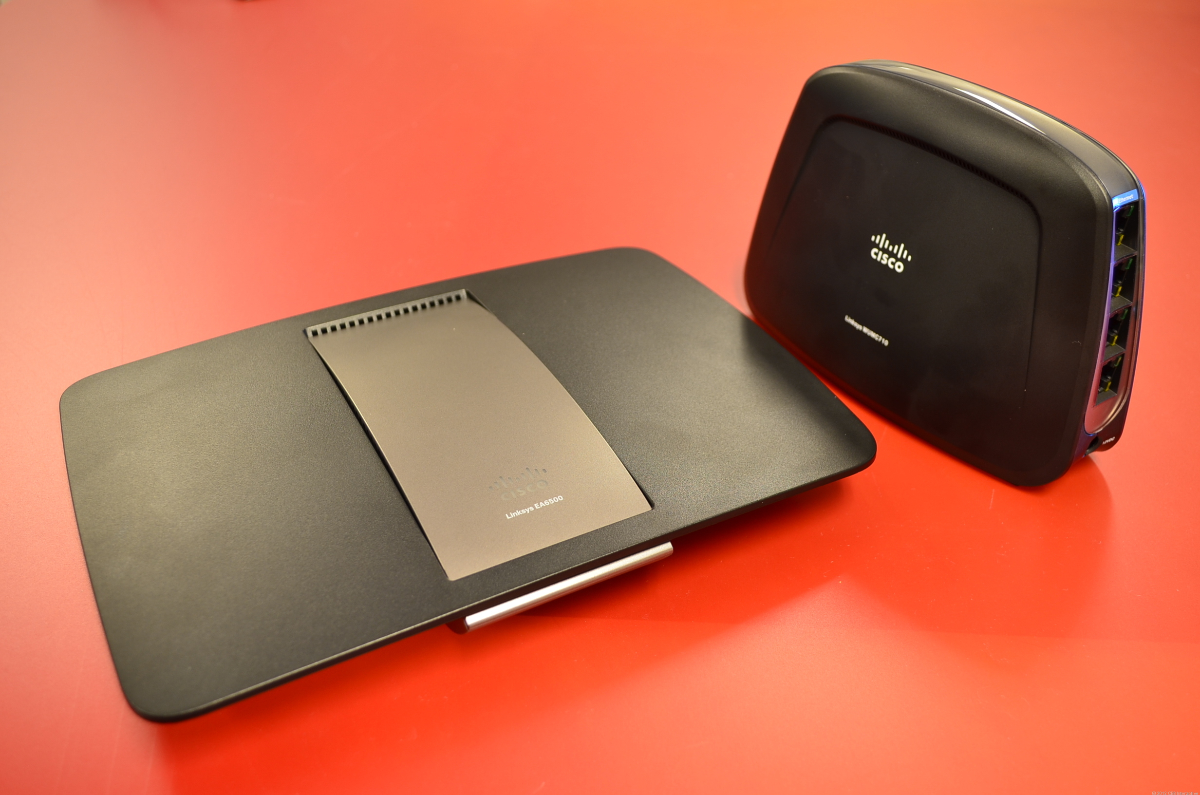 The Linksys EA6500 and the Linksys WUMC710 802.11ac media bridge used for testing