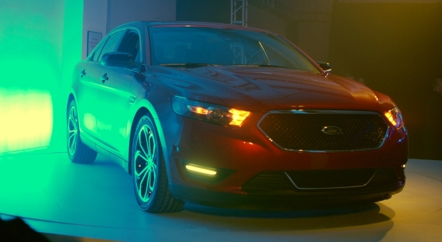 The concert venue's lighting was less than ideal, but this is our first look at the 2013 Ford Taurus SHO.