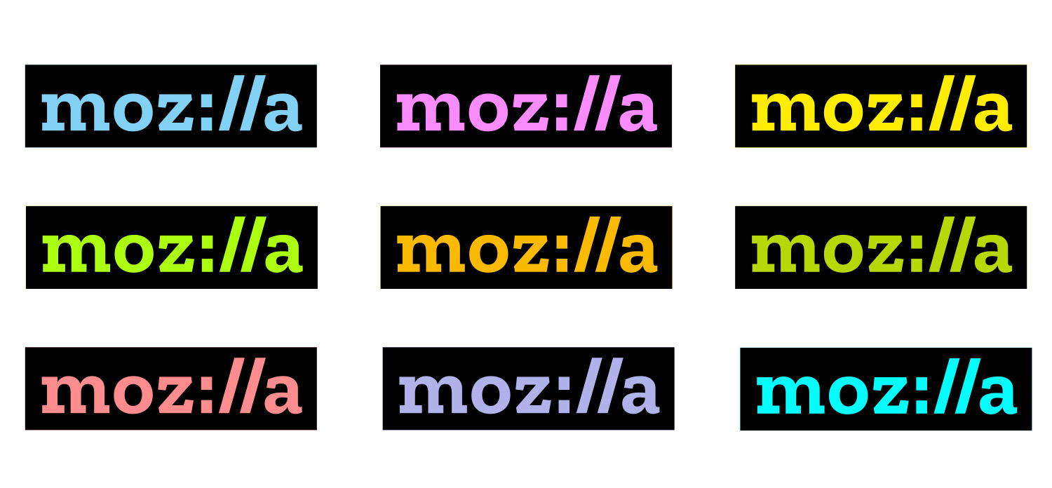 ​Mozilla's brand incorporates web-address styling.