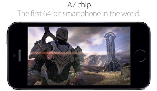 Apple A7 appears to be a 64-bit first for a smartphone.
