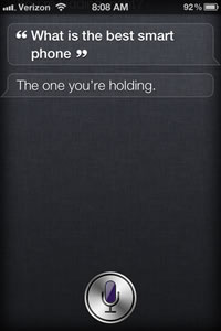 Siri is now touting the iPhone as the best smartphone, much to Nokia's chagrin.