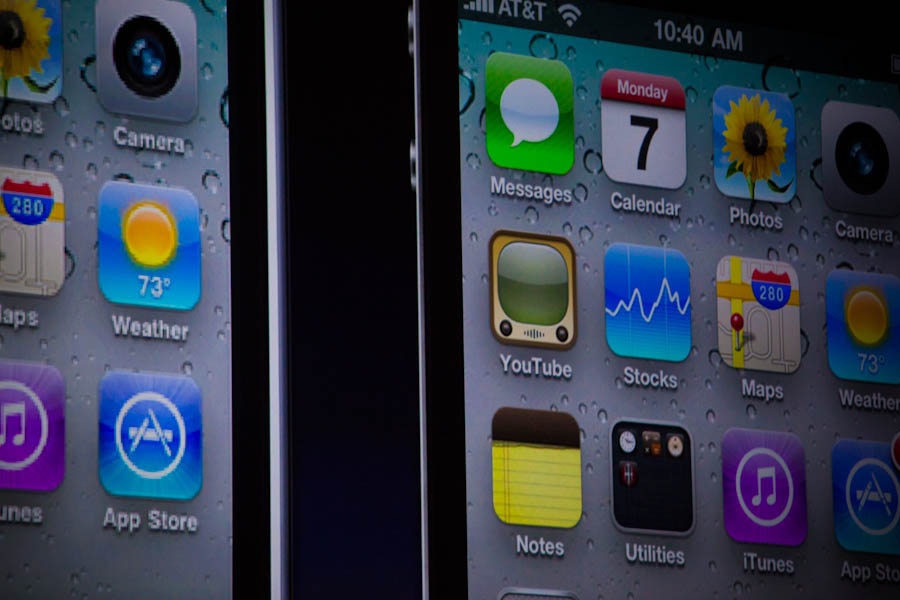 Steve Jobs compares retina display on iPhone 4 to iPhone 3GS