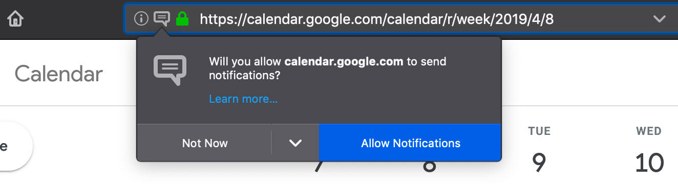 It's common for websites to ask you for permission to show notifications, but most of the time those requests aren't welcome.