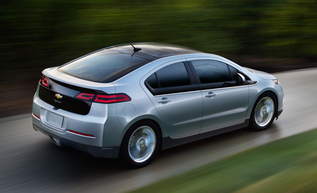 The Chevy Volt:coming to GE's electric vehicle fleet.