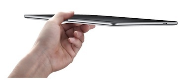 The Samsung Galaxy Tab 10.1 currently on the market runs the Android operating system and uses an Nvidia processor.