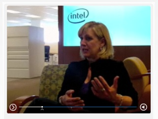 Deborah Conrad, vice president and director of corporate marketing at Intel, talks about new branding strategy via video on Intel Web site