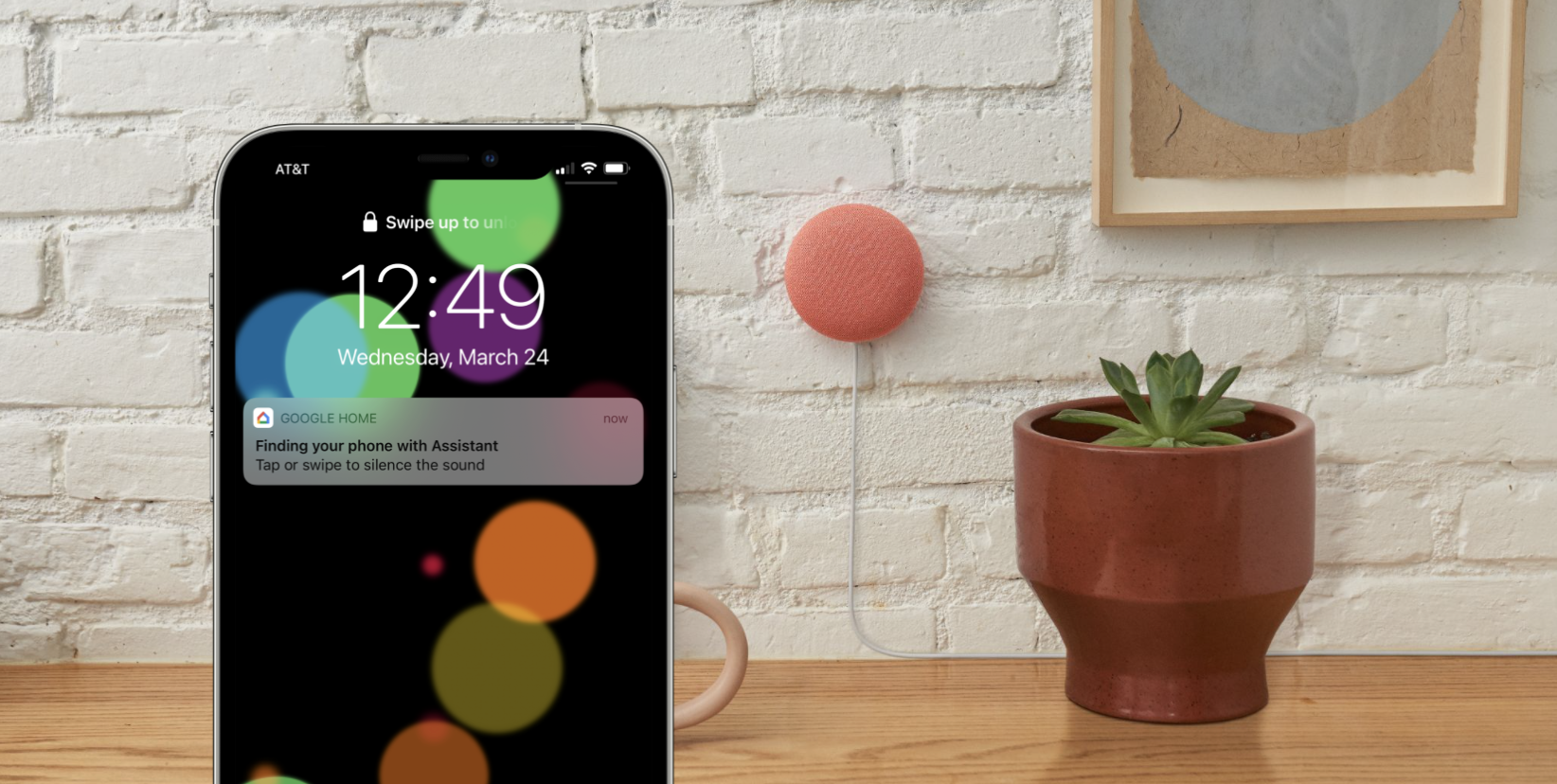Google Assistant find my iPhone Nest Mini
