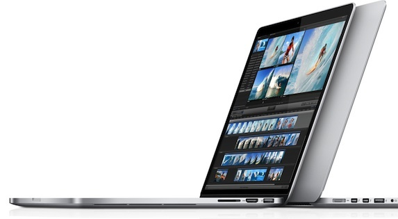 15.4-inch MacBook Pro Retina.  A 13-inch Retina-class display is slated to begin production this quarter.