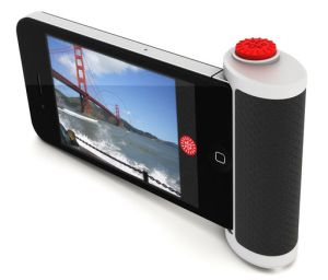 If the developer can raise enough cash, you'll soon be able to add this nifty shutter-release button to your iPhone.