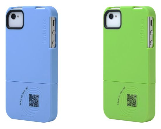 Findables is your basic two-piece smartphone case, but with a custom QR code used for sharing information.