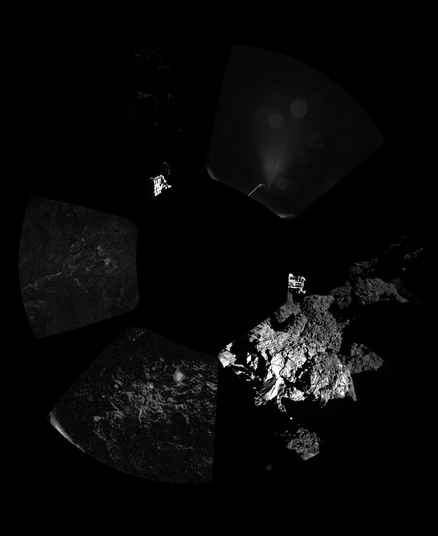 First on-comet panoramic