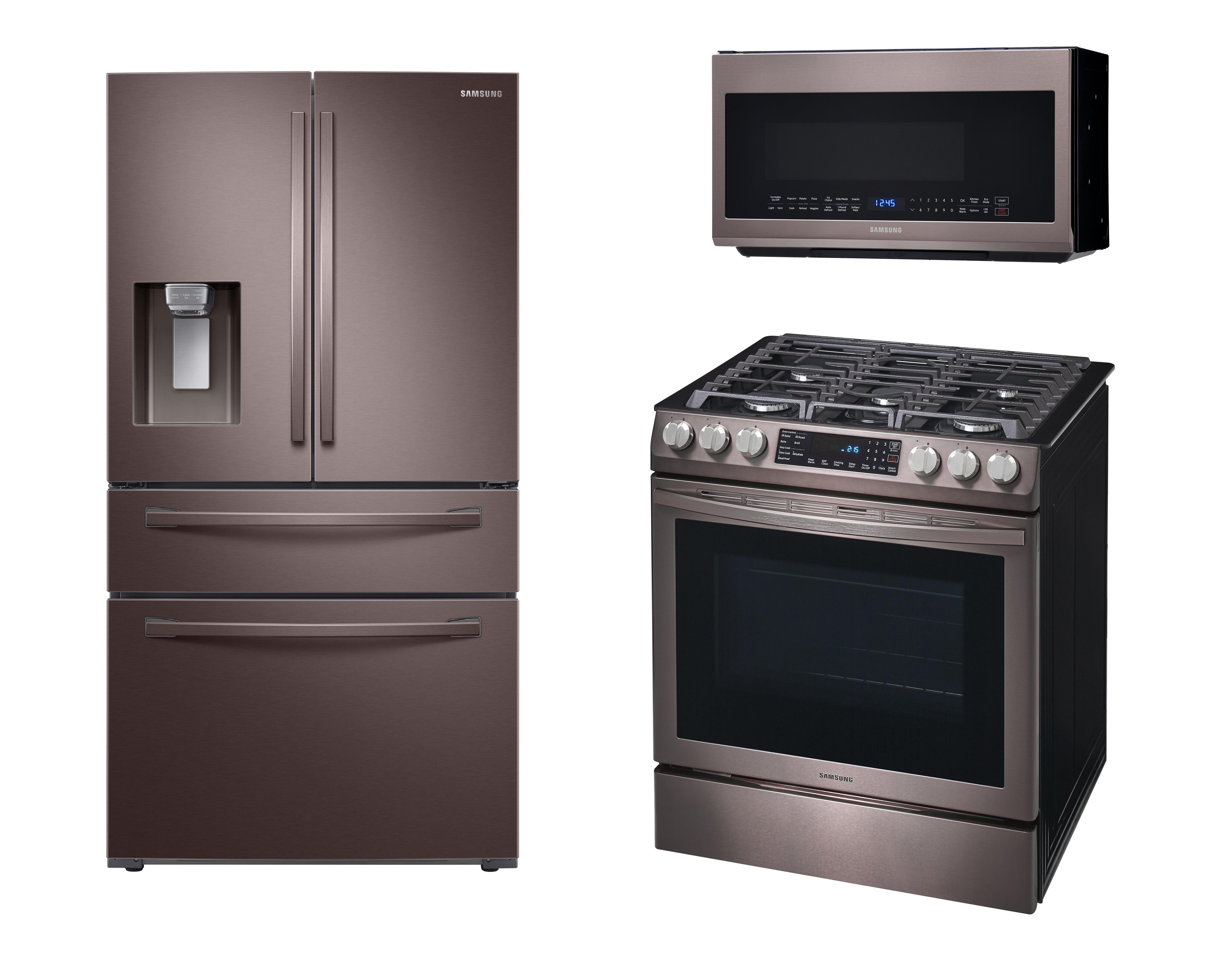 samsung-tuscan-stainless-steel-refrigerator-range-oven-microwave