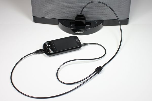 The DockBoss+ makes your Android device compatible with iPhone/iPod/iPad speaker docks and interfaces.