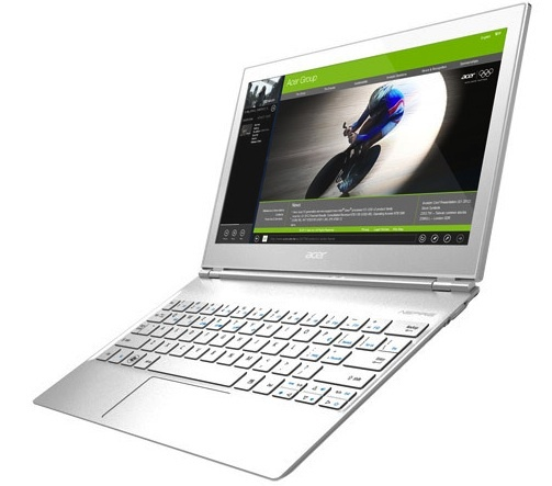 Touchscreen-touting 11.6-inch Acer Aspire. It's powered by an Intel Ivy Bridge chip.