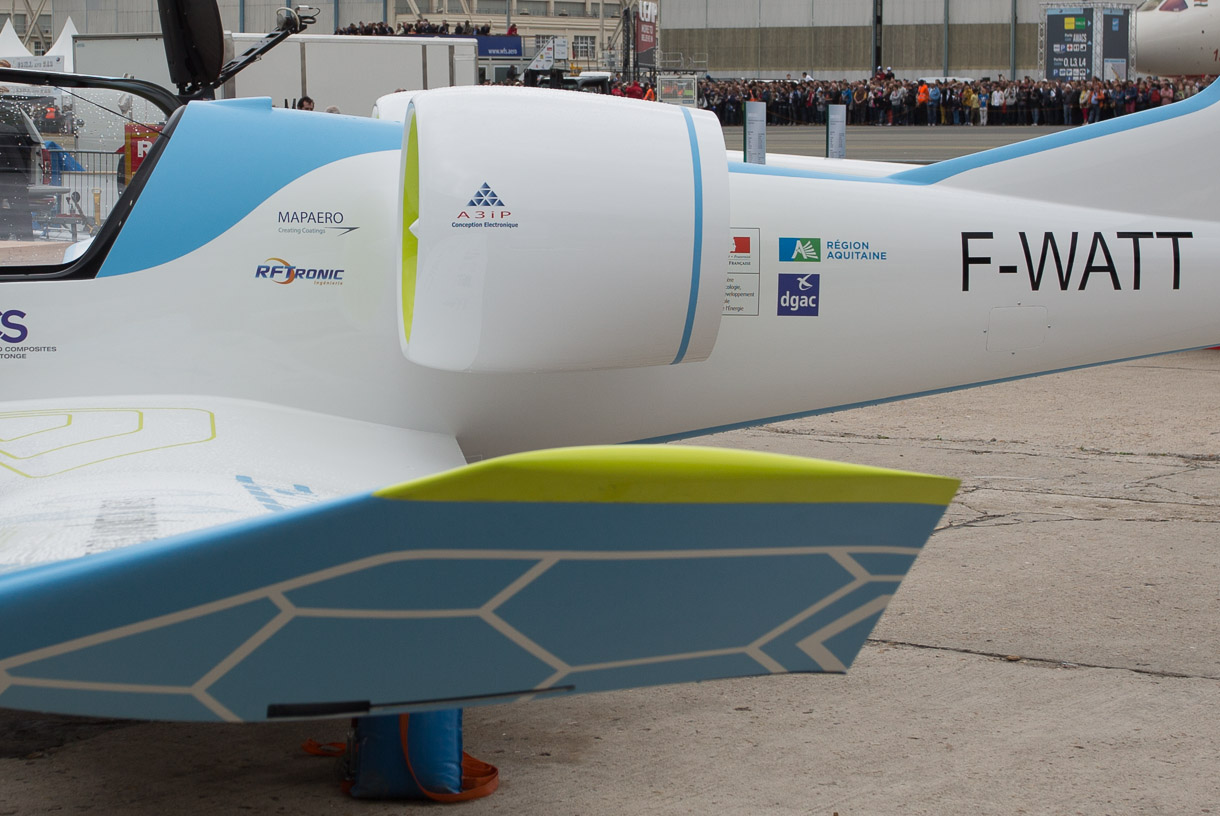 Diamond Aircraft's DA36 E-Star 2, built in cooperation with EADS and Siemens, isn't an electric aircraft, strictly speaking. But it uses battery-powered electric motors to power its engines; a conventional fuel engine charges the battery as the plane flies.