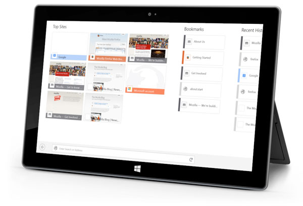Mozilla is adapting Firefox for the touch-centric Windows 8 interface.