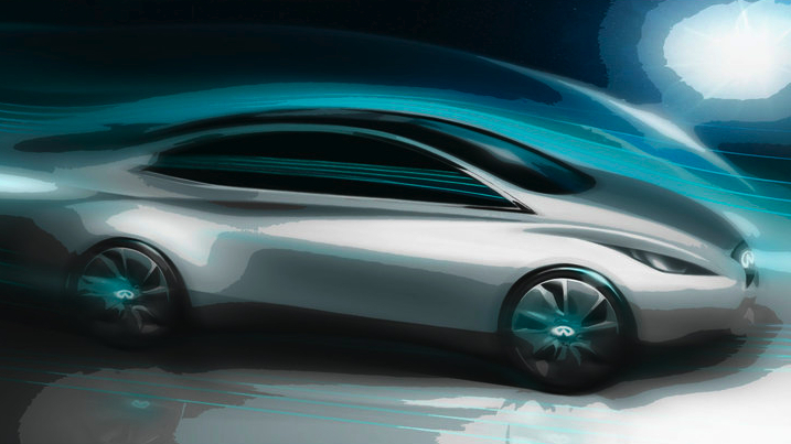This is a sketch of the electric sports car that Infiniti will produce in 2013.