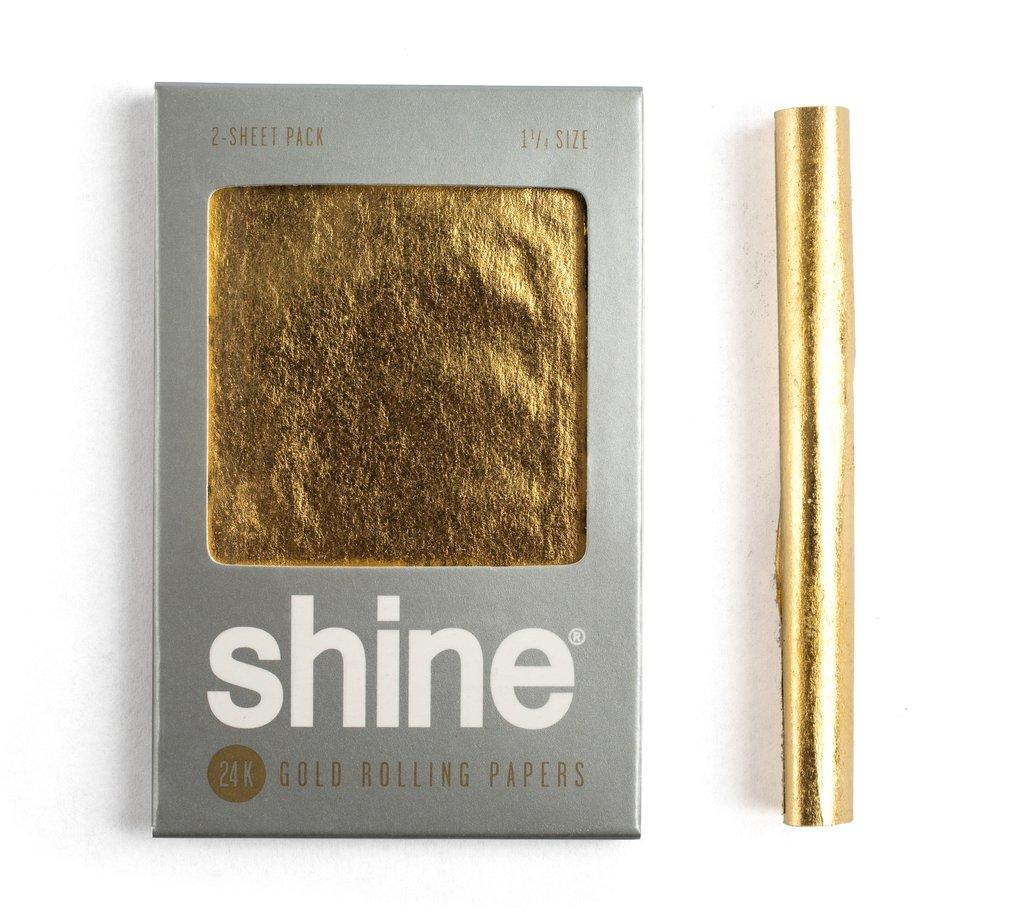 Shine gold rolling papers: $20