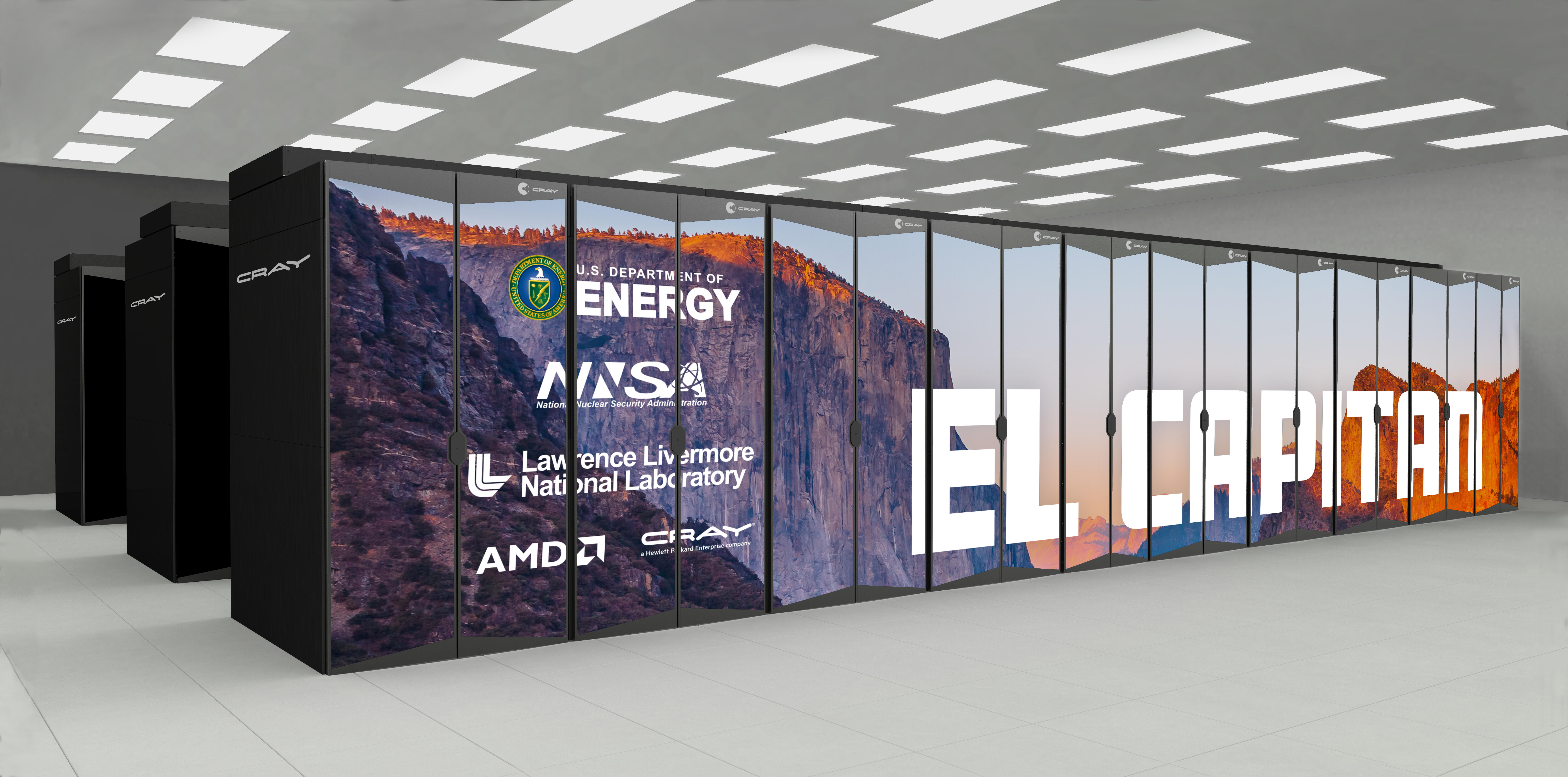 The El Capitan supercomputer, built by HPE's Cray supercomputing division with processors from AMD, should get to work at Lawrence Livermore National Laboratory in 2023.