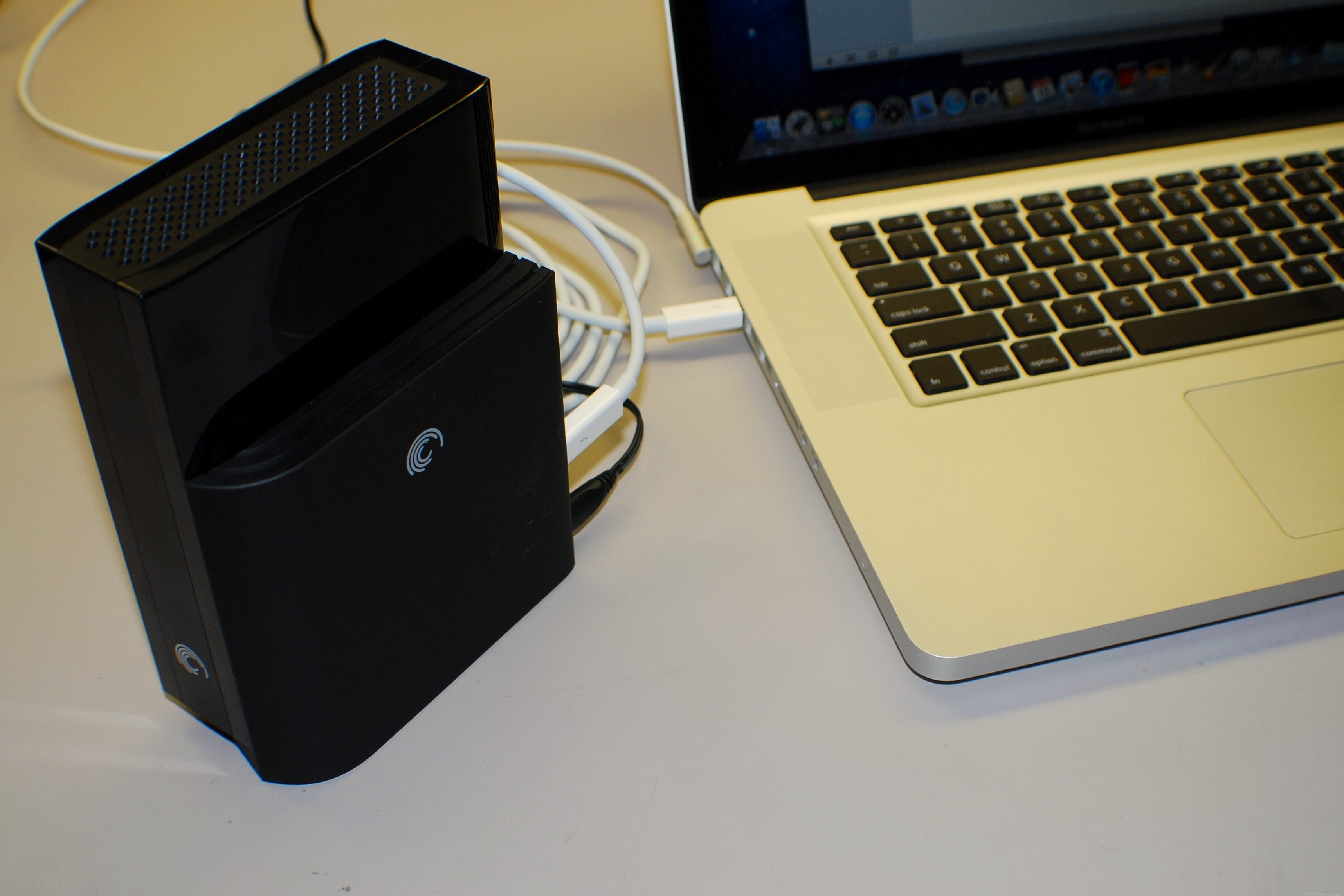 The GoFlex Desk Thunderbolt adapter makes an excellent Thunderbolt storage solution for a supported Mac.