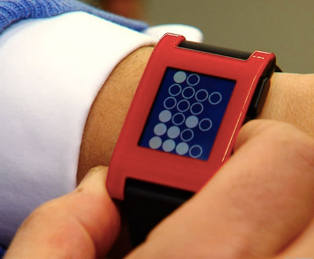 Pebble's smartwatch extends its battery time by using an e-paper display.