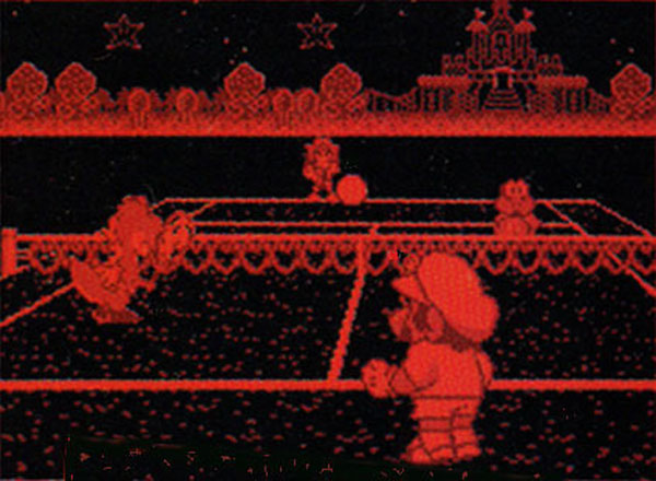 Top-selling Virtual Boy game: Mario Tennis